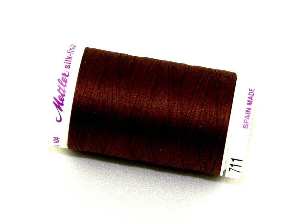 Mettler Silk-Finish 50wt Cotton Thread #711 Brown Bear
