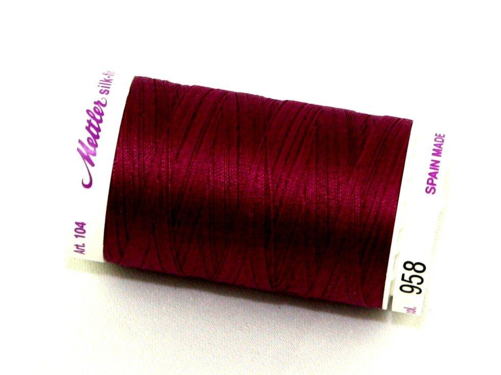 Mettler Silk-Finish 50wt Cotton Thread #958 Boysenberry