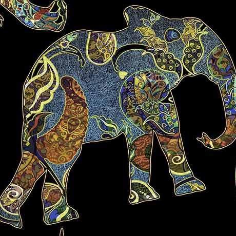 Caravan Paisley Elephants