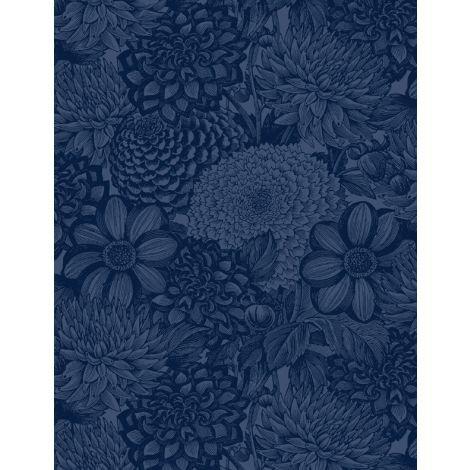 108 Floral Wideback - Blue