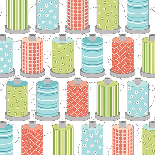 Sewing Room Spools - Wht