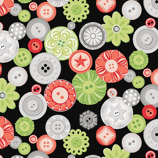 Sewing Room Buttons - Blk