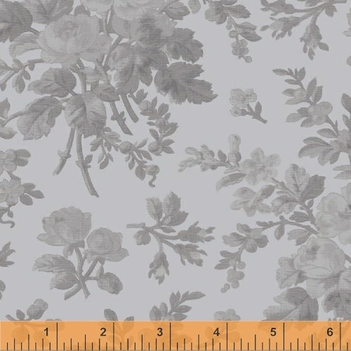 108 Floral Wideback - Grey