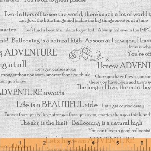 Adventure Awaits Words Gray