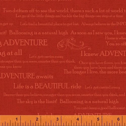 Adventure Awaits - Words on Red