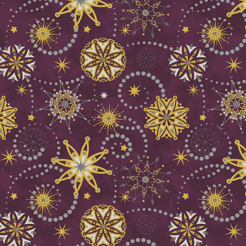 Starlight maroon metallic medallians