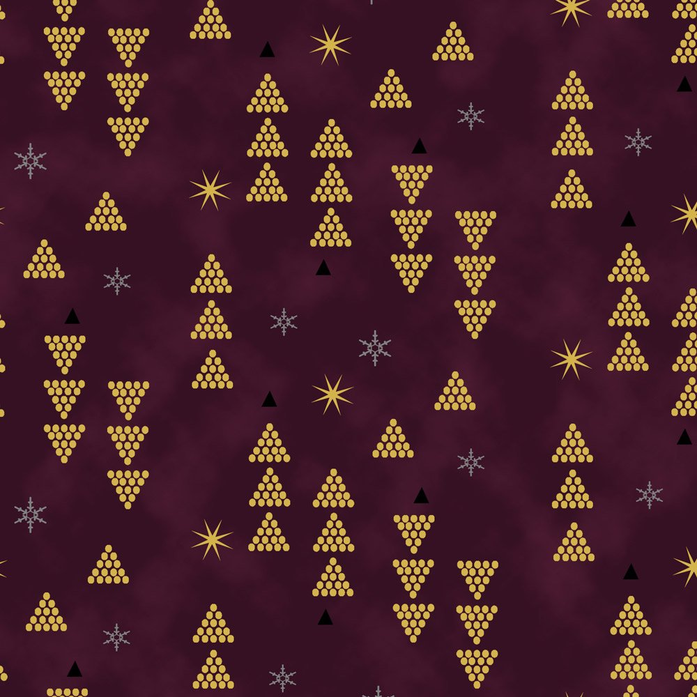 Starlight maroon metallic Triangles