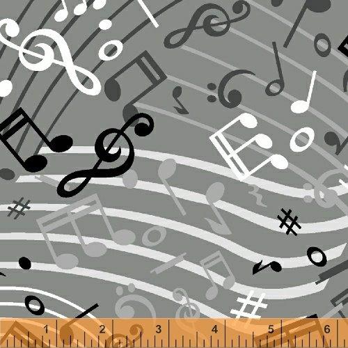 108 Music Wideback - Grey
