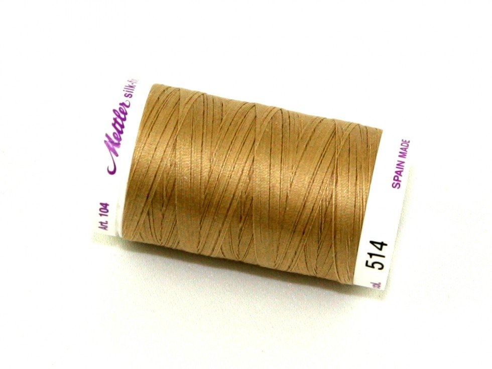 Mettler Silk-Finish 50wt Cotton Thread #0514 Oat Straw