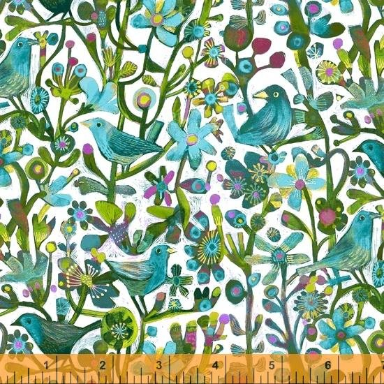 Alfie Jolly Robins by Este MacLeod #52299D-5 Turquoise
