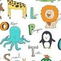 Alphabet Animal Flannel Wht