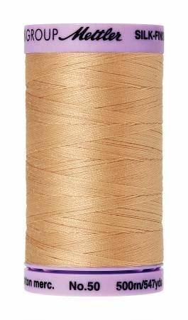 Mettler Silk-Finish 50wt Cotton Thread #515 Caramel  547yds Cream