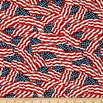 108 American Flags Wideback