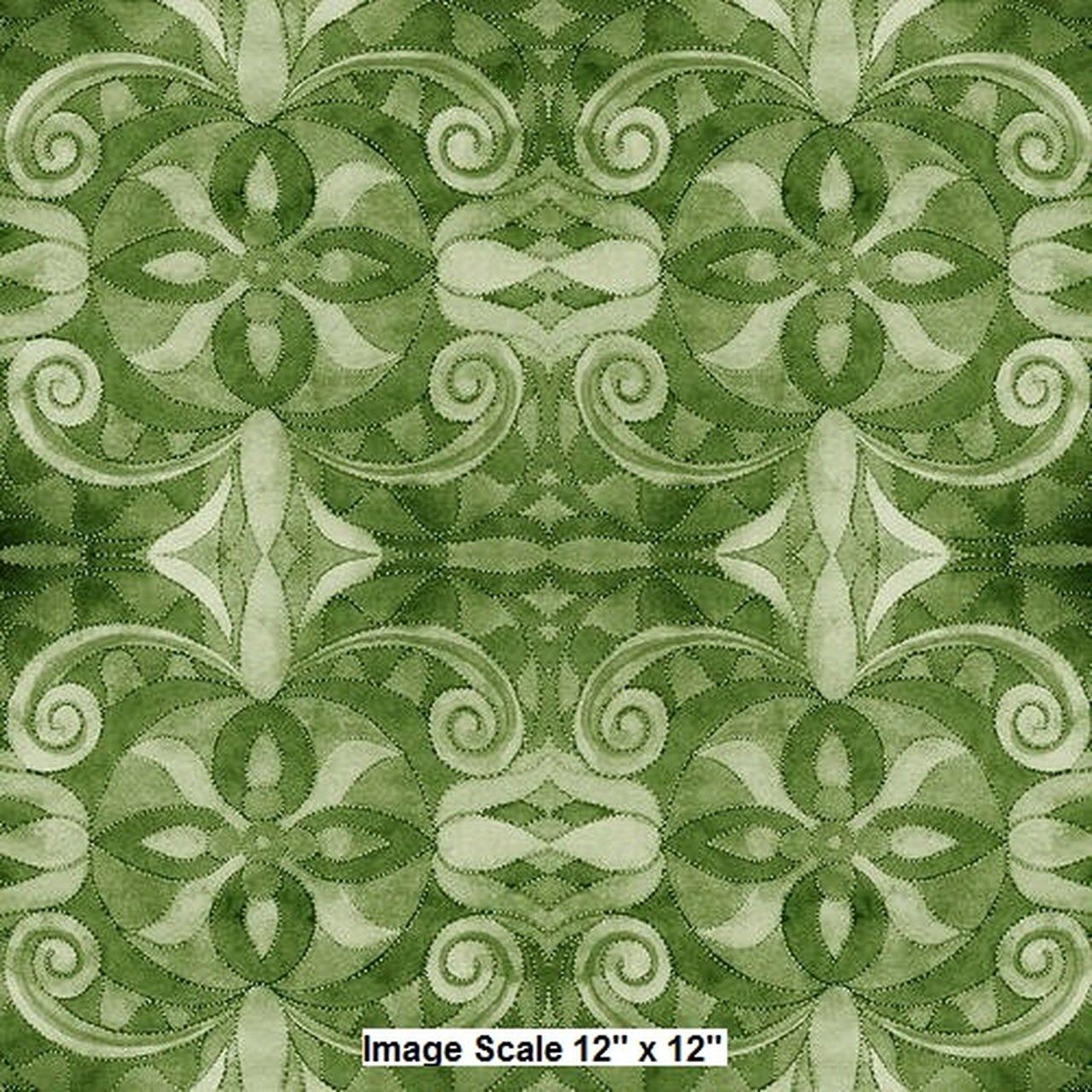 108 Baroque Wideback Digital Print - Green