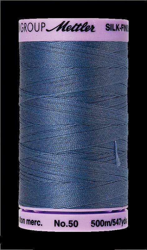 Mettler Silk-Finish 50wt Cotton Thread #789 Blue