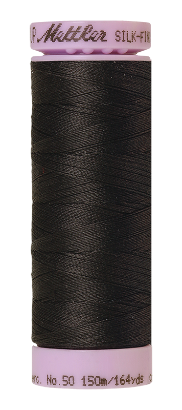 Mettler Silk-Finish 50wt Cotton Thread #700 Obsidian