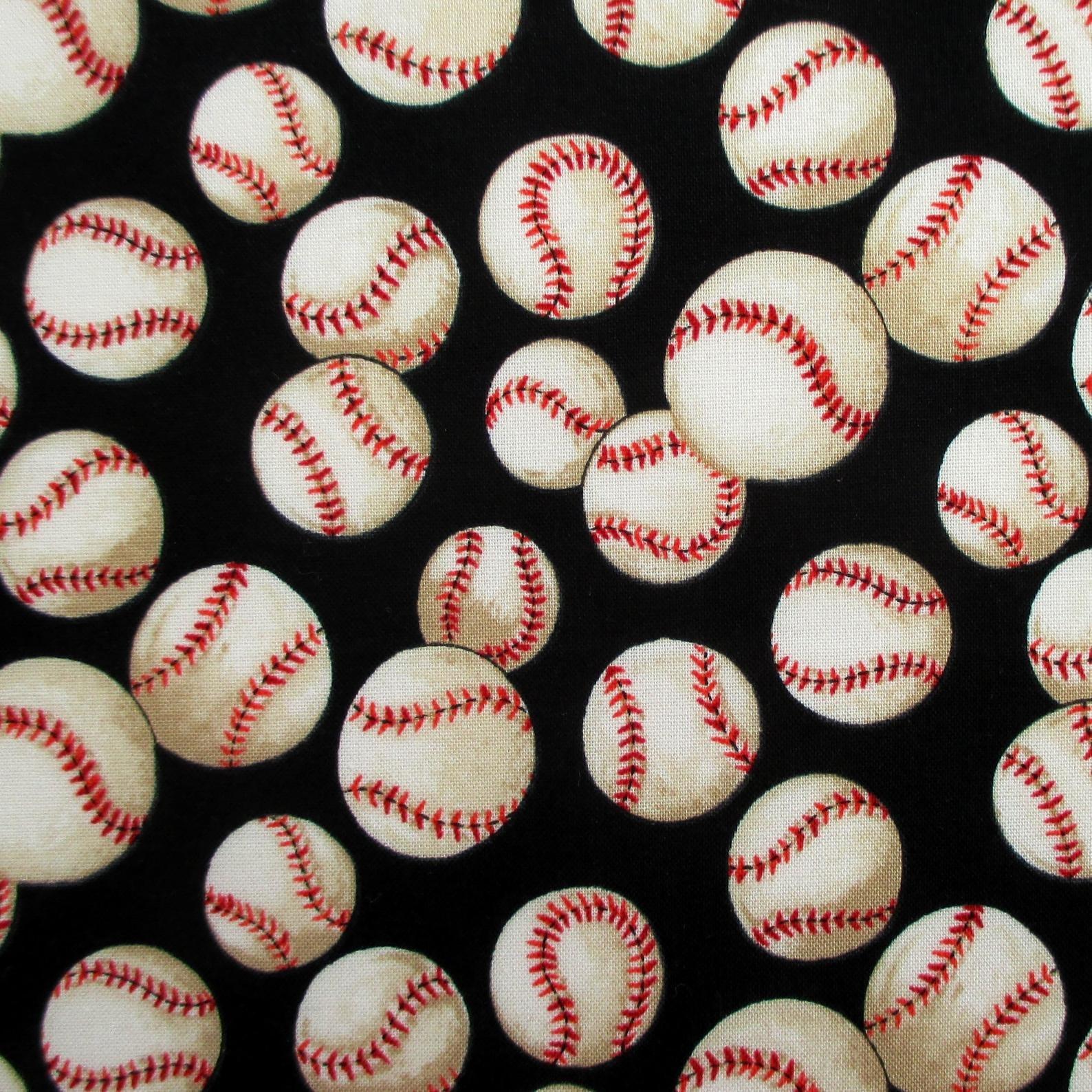 Baseballs on Black #6014F