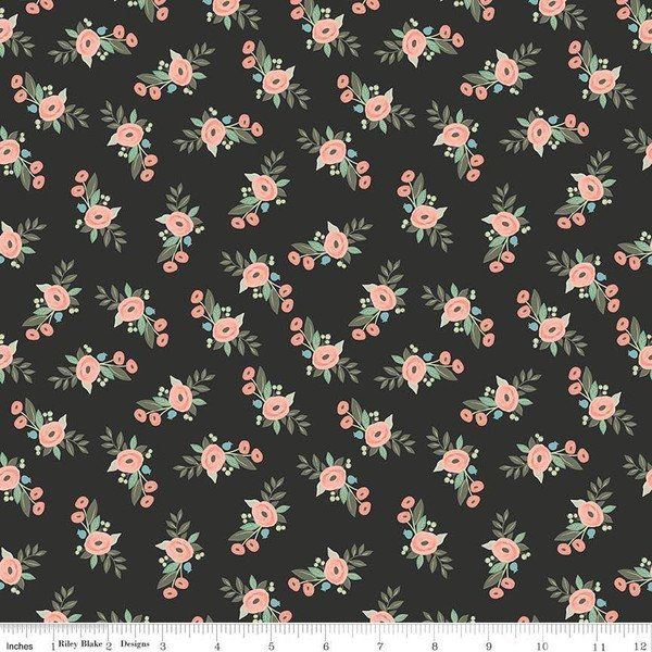 Bliss Floral Black