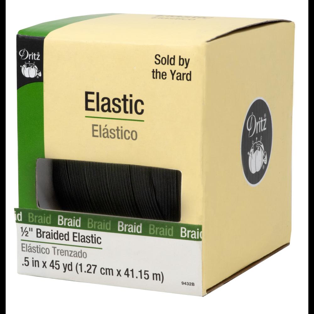 Elastic 1/2 Braided Dritz 9432B Black