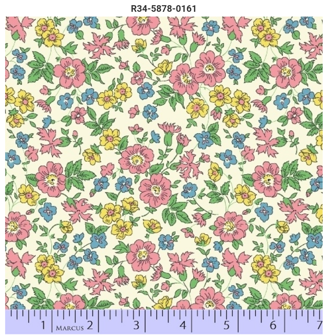 108 Vintage Pastel Floral Wideback