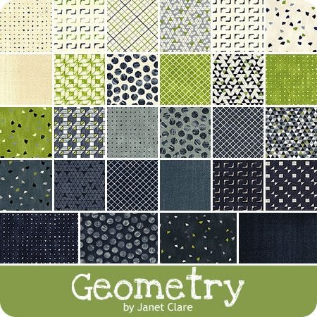 Geometry by Janet Clare - Charm Pack 5 squares