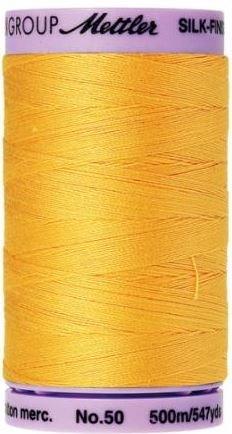 Mettler Silk-Finish 50wt Cotton Thread 547yd #0500 Summer Sun