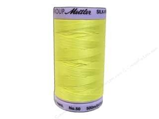 Mettler Silk-Finish 50wt Cotton Thread 547yds #0501 Lemon Zest
