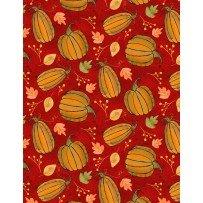Autumn Road Red Pumpkins