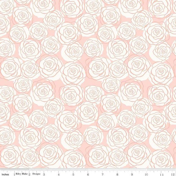 Bliss Roses Blush w Rose Gold Sparkle