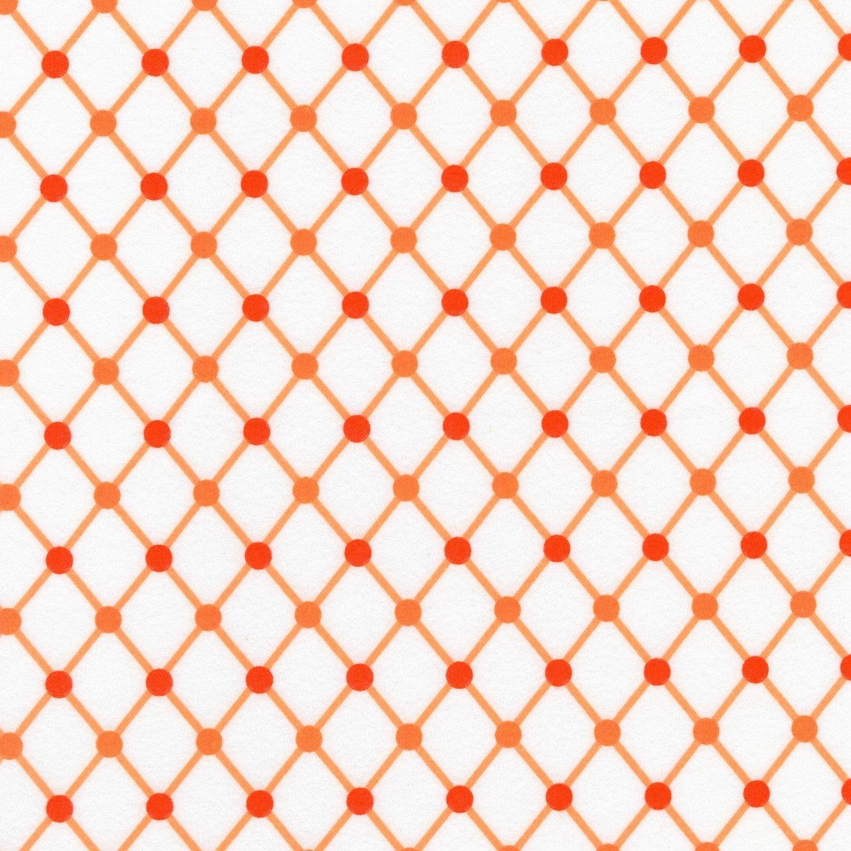 Cozy Cotton Orange Diamonds Flannel