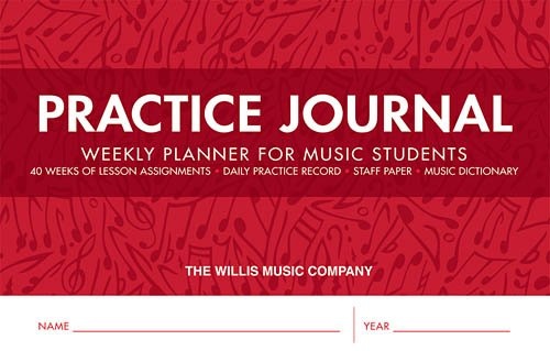 Practice Journal - Weekly Planner for Music Students