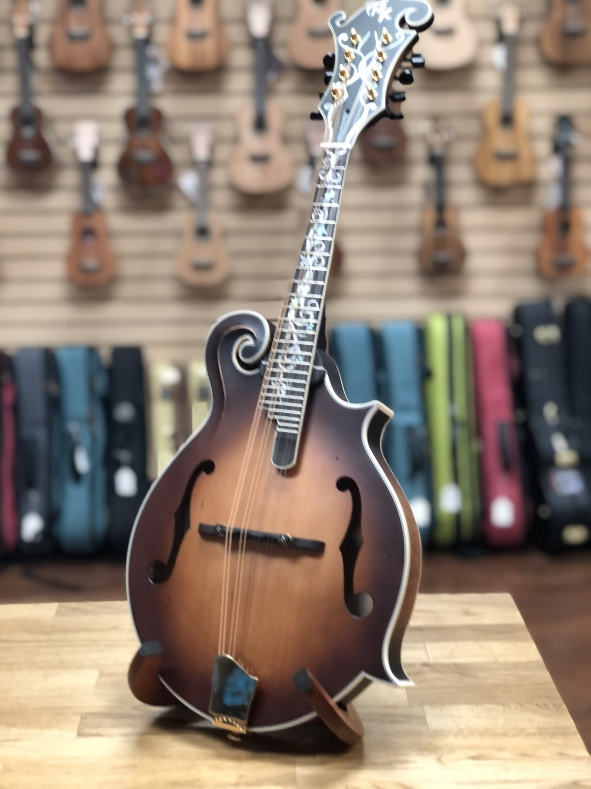 Preowned Michael Kelly Legacy Dragonfly Mandolin w/Case