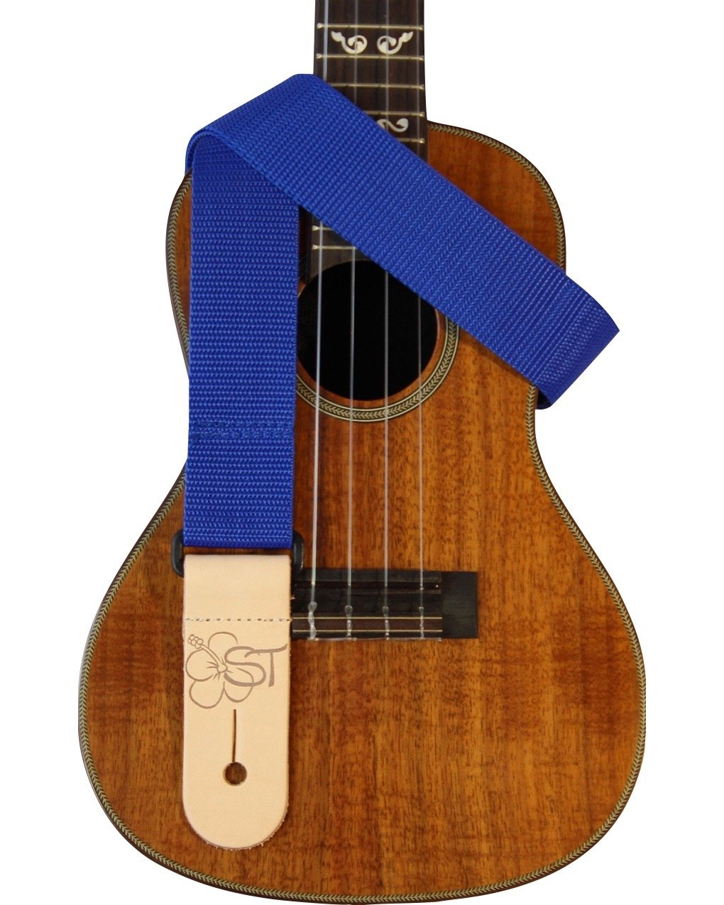 Sherrin's Threads 1.5 Blue Ukulele Strap