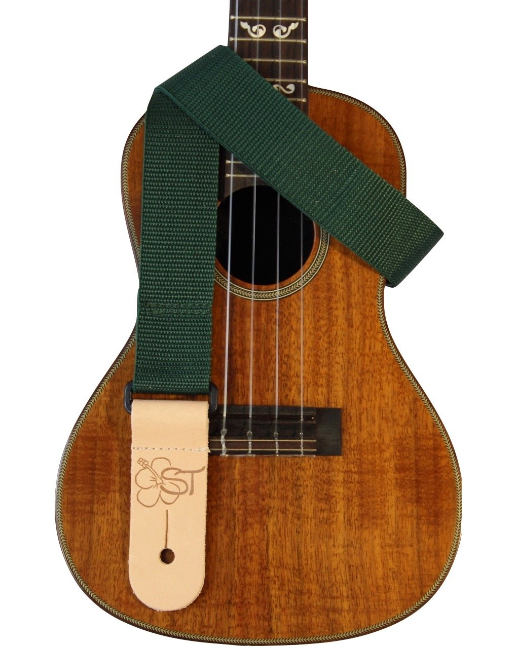 Sherrin's Threads 1.5 Green Ukulele Strap