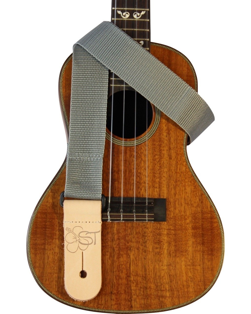 Sherrin's Threads 1.5 Poly Ukulele Strap - Grey
