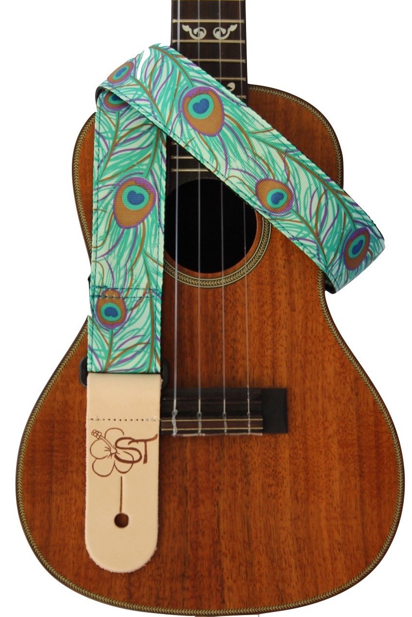 ST 1.5 Hawaiian Print Ukulele Strap - Limited Edition Peacock