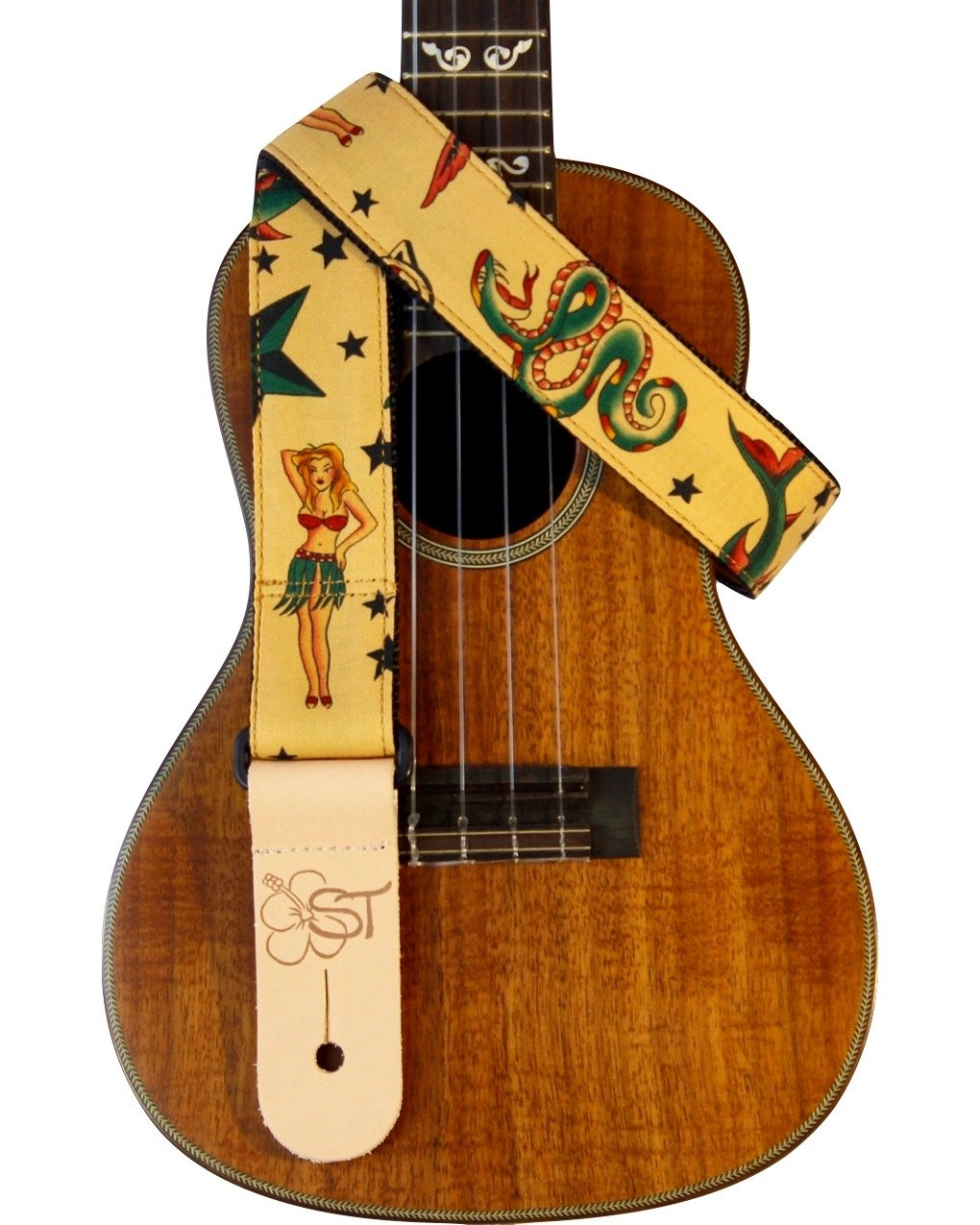 Sherrin's Threads 1.5 Ukulele Strap - Tattoo