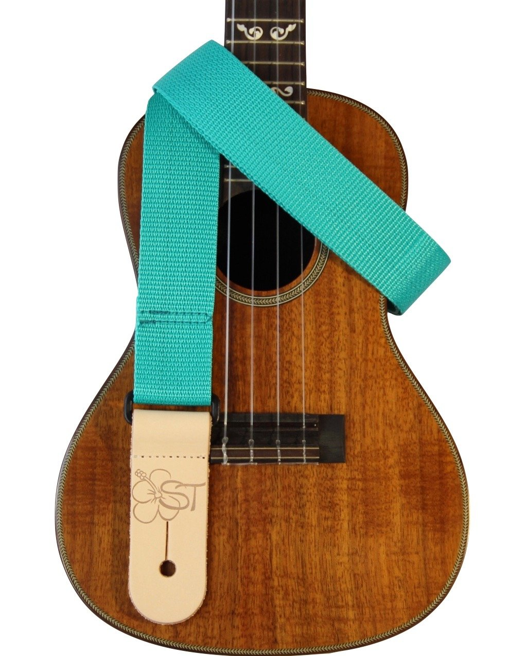 Sherrin's Threads 1.5 Teal Ukulele Strap