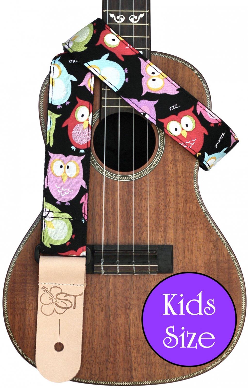 Sherrin's Threads 1.5 Premium Print Kids Ukulele Strap - Owl