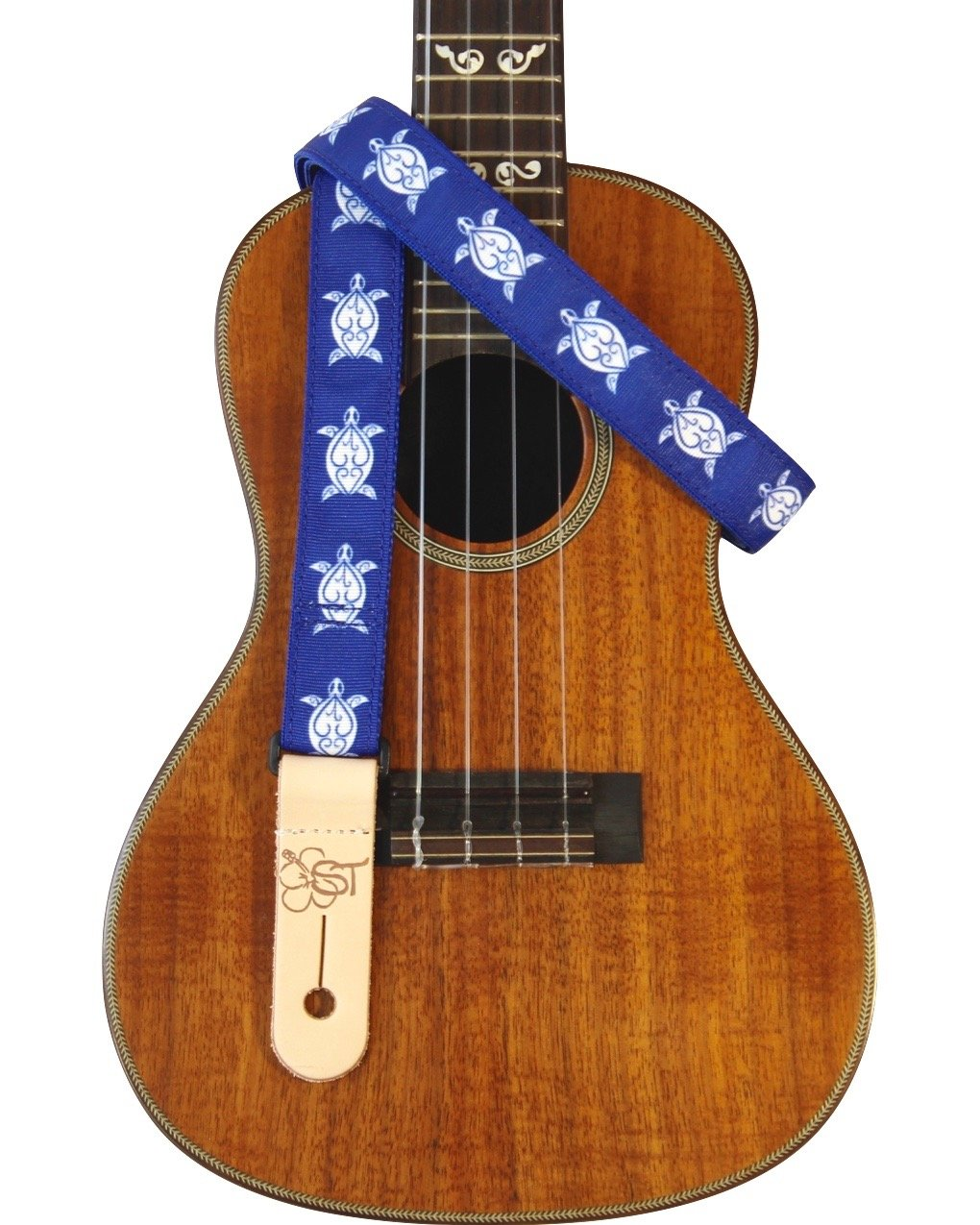 Sherrin's Threads 1 Hawaiian Print Ukulele Strap - Blue Turtle