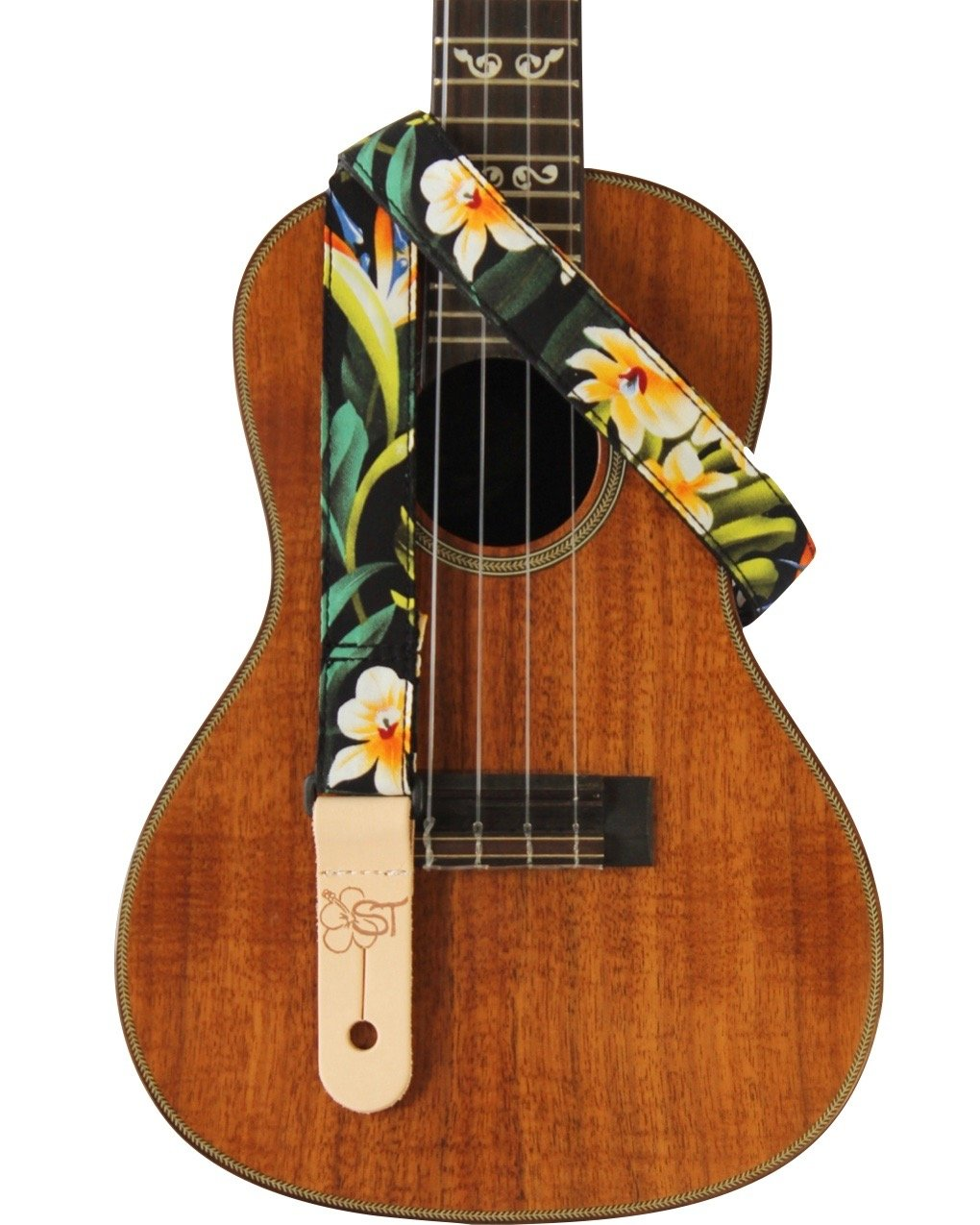 ST 1 Hawaiian Print Ukulele Strap - Bird of Paradise