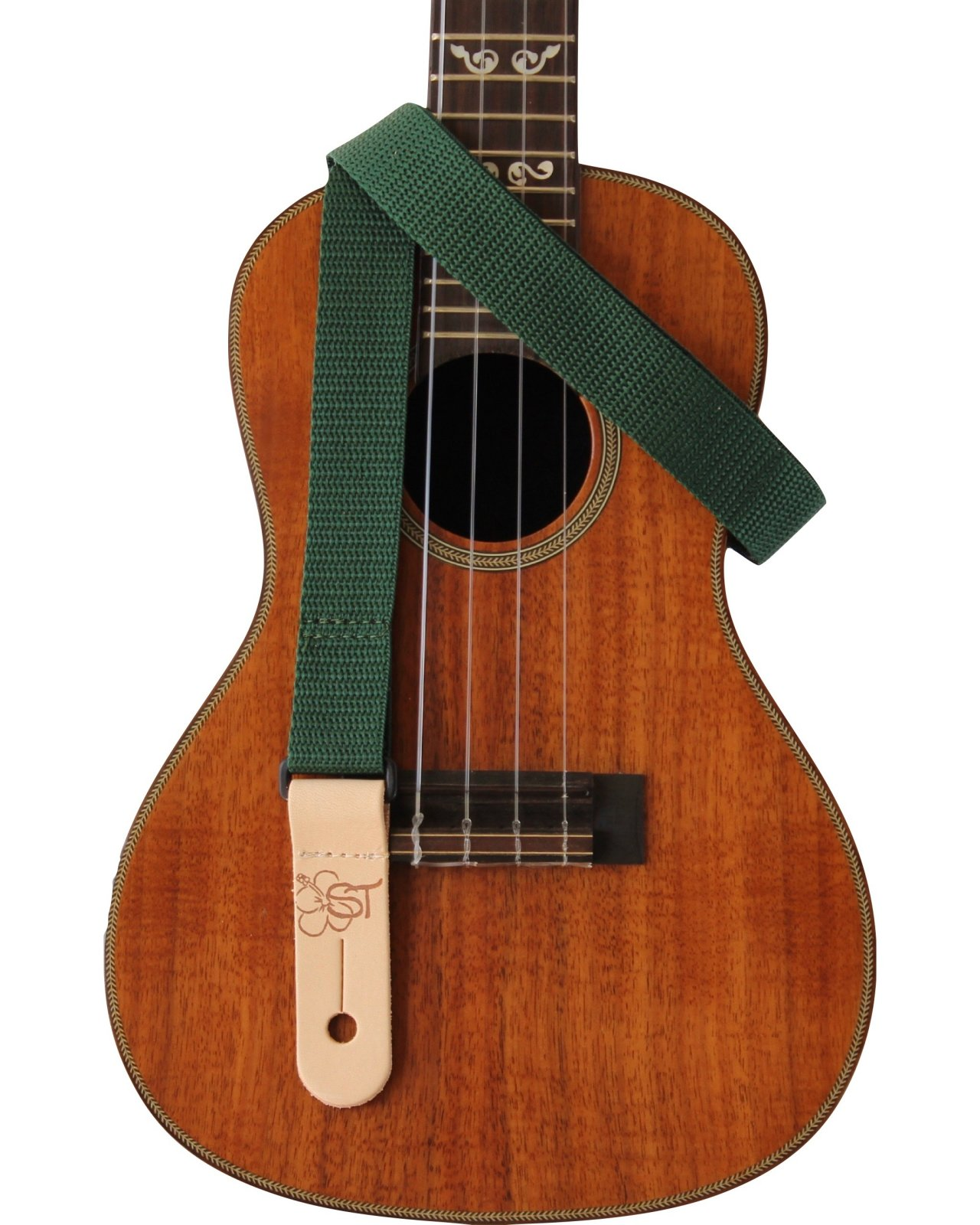 Sherrin's Threads 1 Green Kids Ukulele Strap