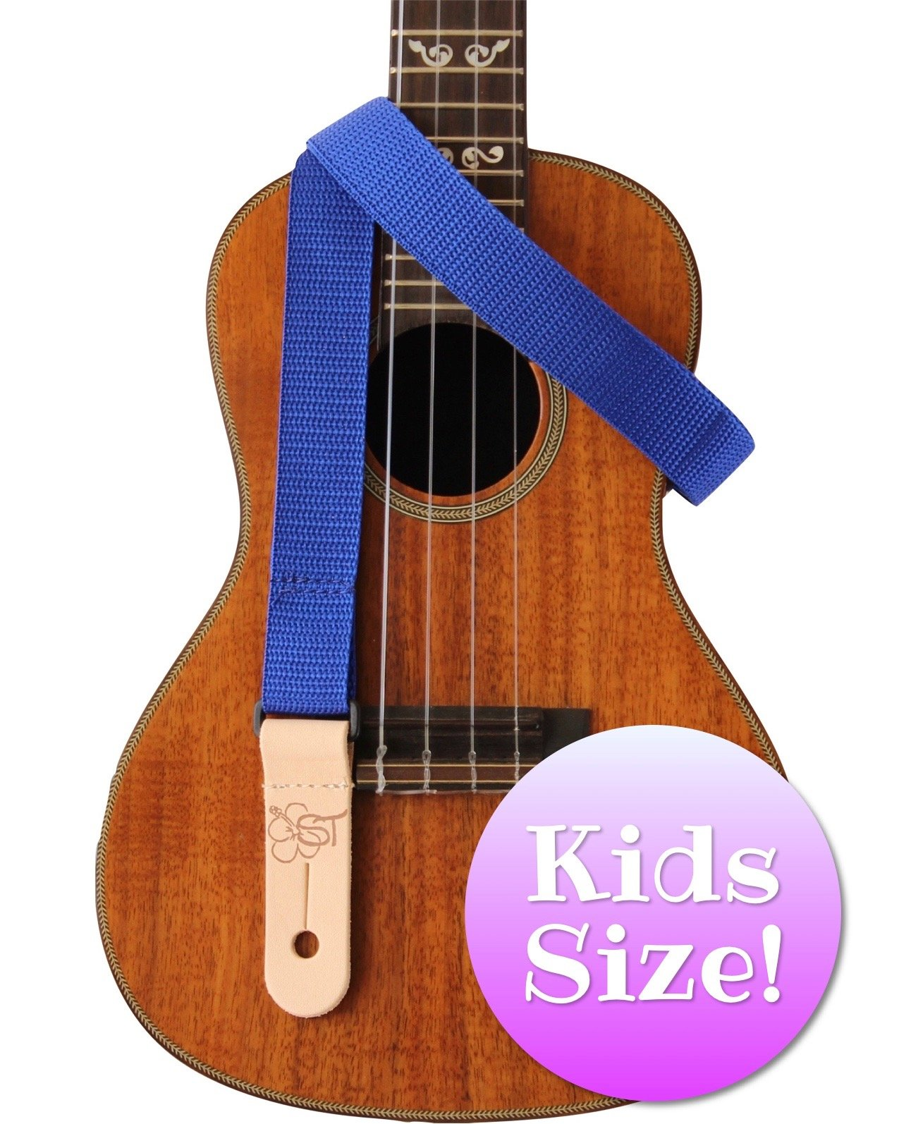 Sherrin's Threads 1 Poly Kids Ukulele Strap - Blue
