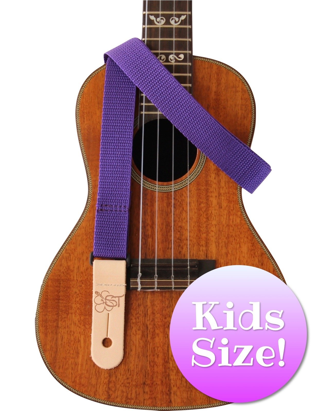 Sherrin's Threads 1 Poly Kids Ukulele Strap - Purple