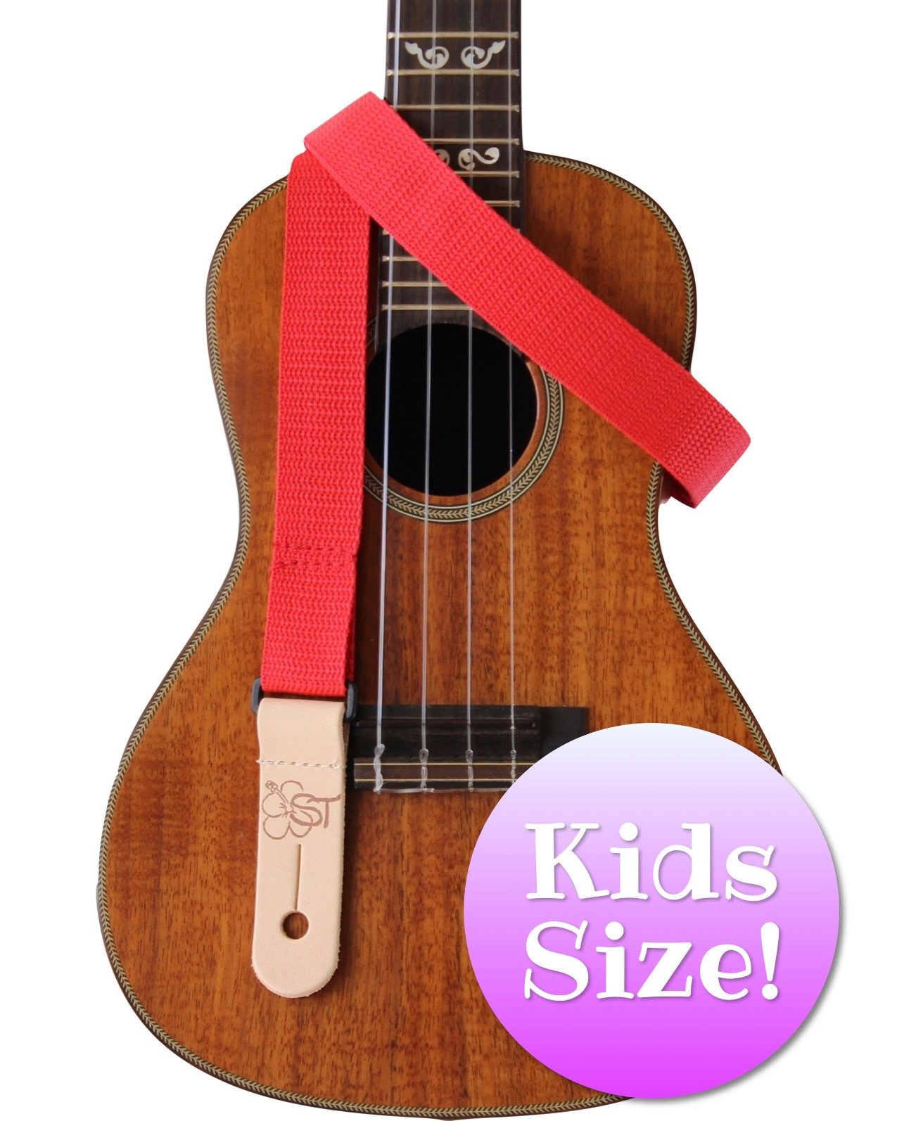 Sherrin's Threads 1 Red Kids Ukulele Strap