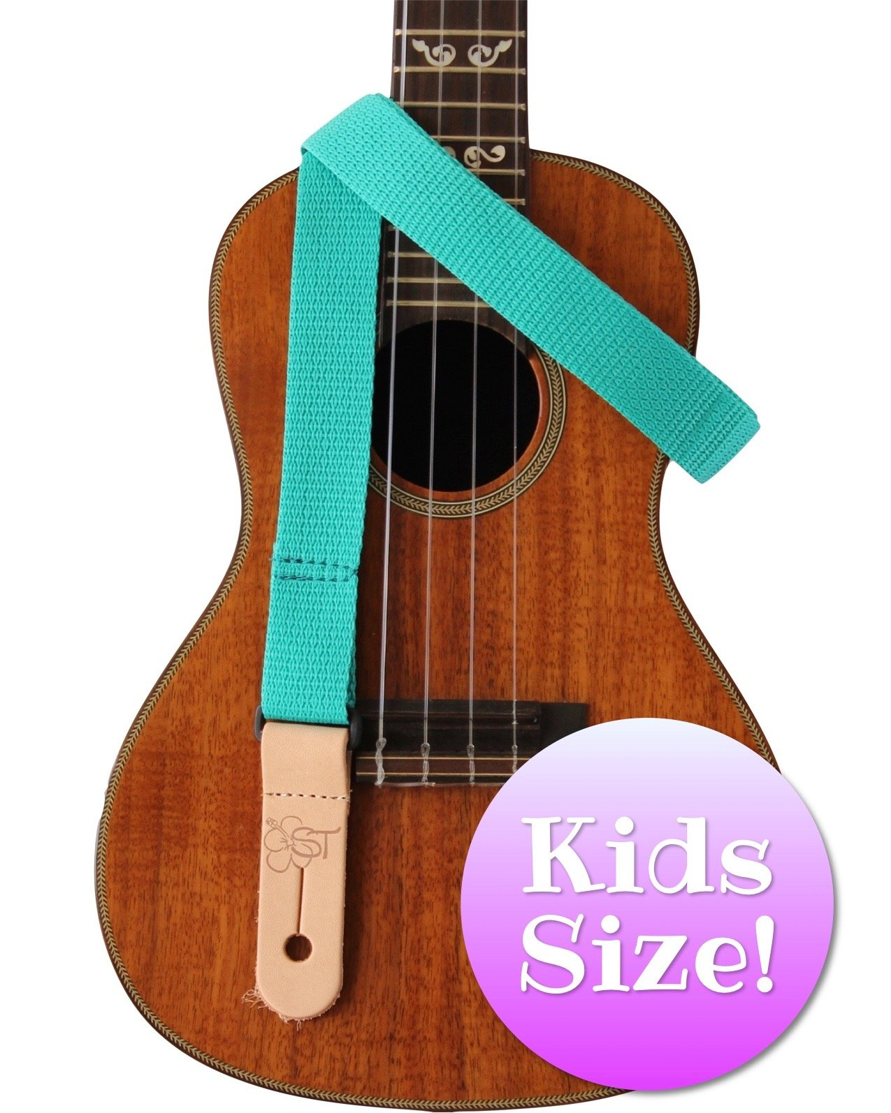 Sherrin's Threads 1 Teal Kids Ukulele Strap
