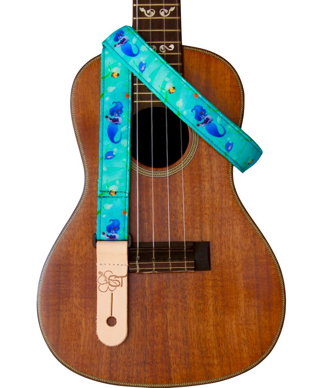 Sherrin's Threads 1 Ukulele Strap - Blue Mermaid