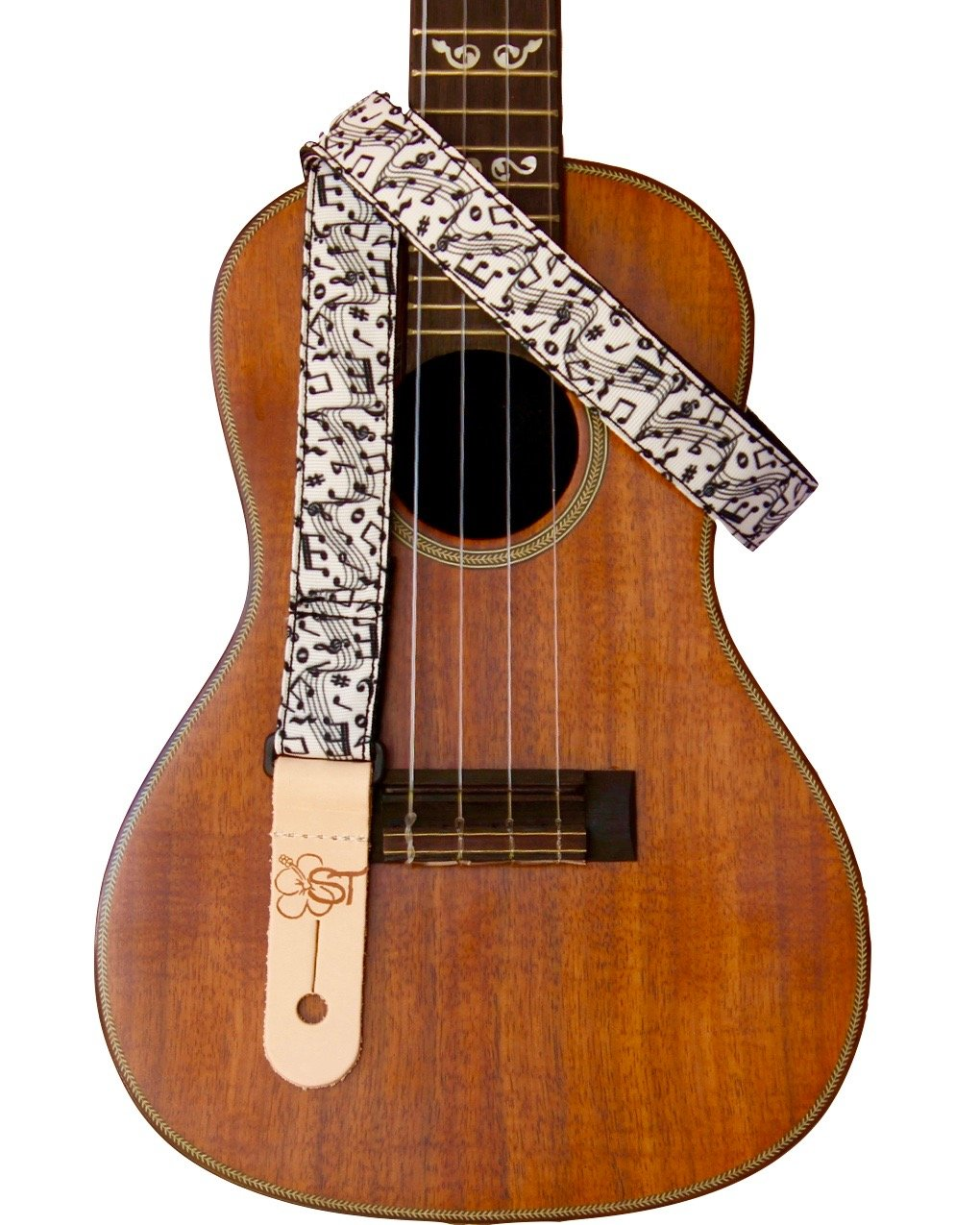 Sherrin's Threads 1 Ukulele Strap - Music Notes