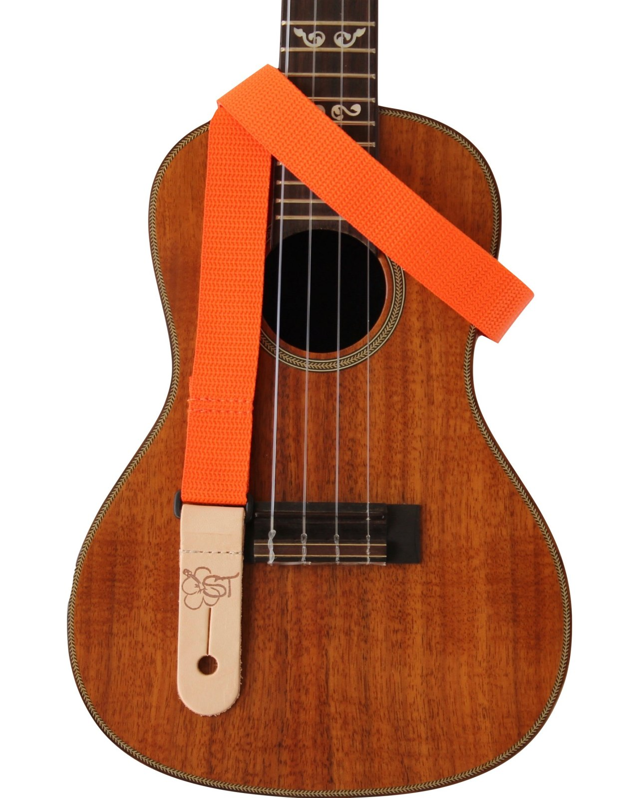 Sherrin's Threads 1 Orange Ukulele Strap