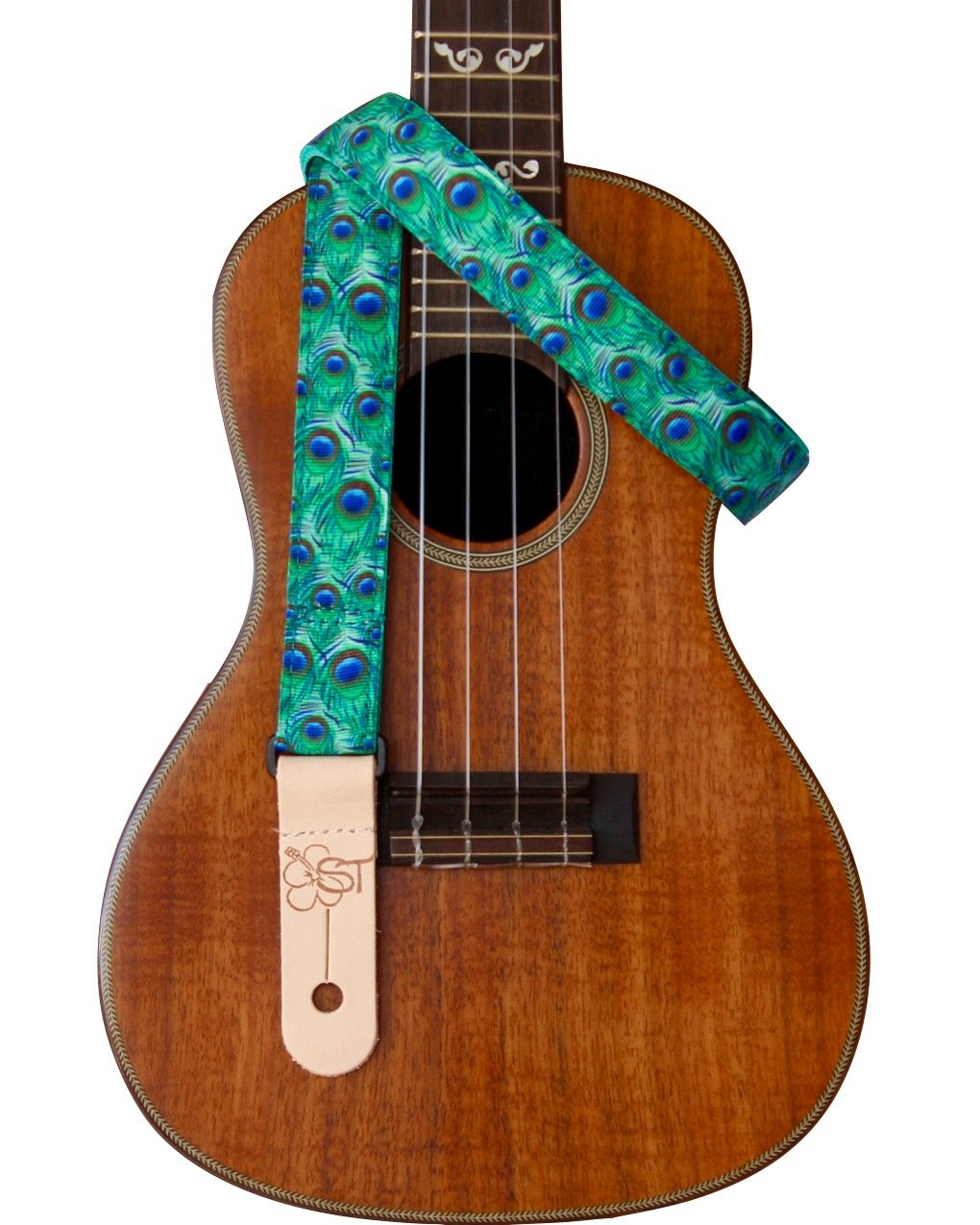 Sherrin's Threads 1 Ukulele Strap - Peacock Feathers